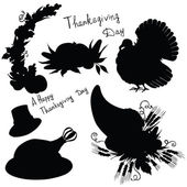 Vector silhouette elements Thanksgiving — 图库矢量图片