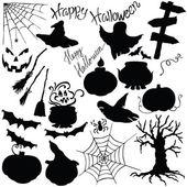 Silhouette vector elements Halloween — Stock Vector