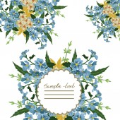 Vector picture with different flowers — Stock Vector