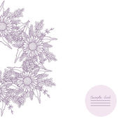 Imagen de vector con diferentes flores — Vector de stock