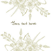 Vector picture with different flowers — Wektor stockowy