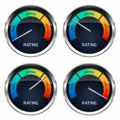 Realistic Rating Dashboard — Stock Vector