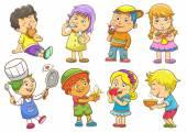 Child activities routines — Stock Photo
