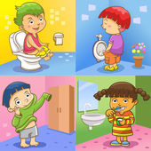 Child daily activities — Stock Photo