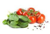 Spinach and tomatoes. — Stock Photo