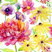 Naadloze patroon met peony bloemen — Stockfoto