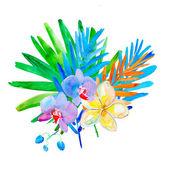 Original Summer flowers, watercolor illustration — Stockfoto