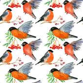 бесшовный фон с птичками — Стоковое фото