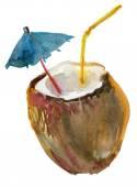 Coconut Cocktail — Stock Photo