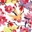 Cherry or sakura seamless pattern — Stock Photo #54916269