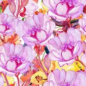 Roses Seamless Pattern. — Stock Photo