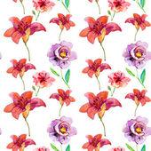 Lily Seamless Pattern — Stock Photo