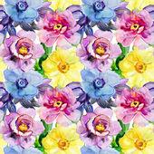 Seamless patterns with Beautiful flowers — Stock Photo