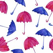 Watercolor colorful umbrellas — Stock Photo