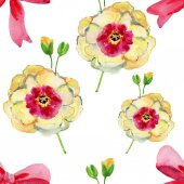 Seamless pattern from original watercolor — Stock Photo