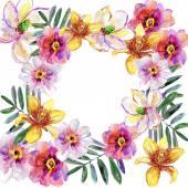 Wallpaper with Colorful Summer flowers — Φωτογραφία Αρχείου
