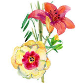 Beautiful Flowers Garland — Φωτογραφία Αρχείου