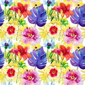 Tropical Seamless pattern. — Stock Photo