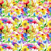 Seamless patterns with flowers — Stock Photo