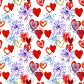 Snowflakes and hearts. — Stock Photo