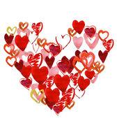 Vattenfärg hjärta — Stockfoto