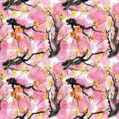 Pattern with blossoming tree brunches — Stock Photo