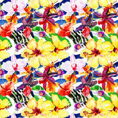 Seamless pattern with tropical flowers — Foto de Stock