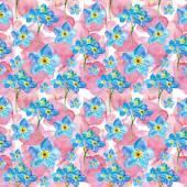 Roses and orchid flowers seamless pattern — Stock Photo