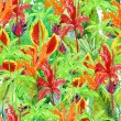 Seamless flower pattern leaves — Stock Photo #67435967