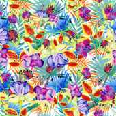 Seamless flower pattern leaves — Stock Photo