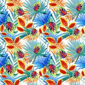 Seamless flower pattern leaves — Foto de Stock
