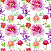 Wallpaper with decorative wild flowers — Stock Photo