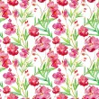 Floral watercolor seamless background. — Stok fotoğraf #78598852