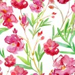 Floral watercolor seamless background. — Stok fotoğraf #78709148