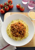 Chicken spaghetti bolognese — Stock Photo