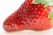 Macro of fresh strawberry — Stock Photo