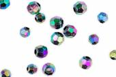 Faceted multi-colored beads isolated against white — Stock Photo