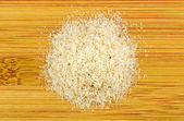 Pile of Psyllium on wooden background — Stock Photo