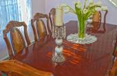 Classic Old Fashioned Dining Table in Home Environment — Stock Photo