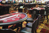 Row Casino Gaming Tables in Las Vegas Casino Hotel's Hall — Stock Photo