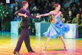 Минск-Белоруссия, 18 октября 2014: неопознанная пара танца perfo — Стоковое фото