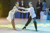 Minsk-Belarus, October 18, 2014: Unidentified Dance Couple Perfo — Foto de Stock