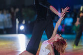 Minsk-Belarus, October 18, 2014: Unidentified Dance Couple Perfo — Stock Photo