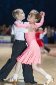 Minsk-Belarus, October 19, 2014: Unidentified Dance Couple Perfo — Stock Photo