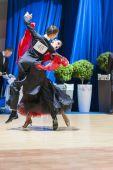 Minsk-Belarus, October 19, 2014: Unidentified Dance Couple Perfo — Stockfoto