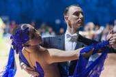 Minsk-Belarus, October 19, 2014: Unidentified Dance Couple perfo — Stock Photo