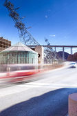 Cars Passing by over the Hoover Dam at Noon — Stock Photo