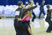 Minsk-Belarus, October 4,2014: Unidentified Professional dance c — Stock Photo