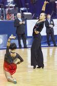 Minsk-Belarus, October 4,2014: Unidentified Professional dance c — Stock Photo