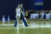 Minsk-Belarus, October 4, 2014: Andrey Zaycev and Elizaveta Cher — Stock Photo